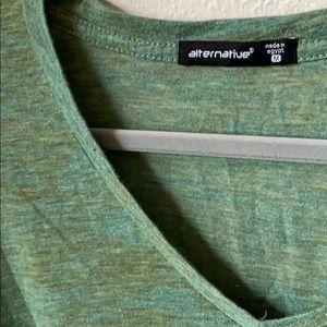 Alternative Apparel Tops - Alternative Apparel Heather Long Sleeve V Neck